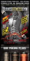 TranceFitness Flyer, AD or Magazine Cover Template by ShermanJackson
