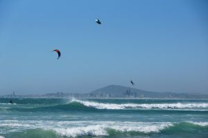Kite Surfing - Triangles in the sky by AfricanObserver
