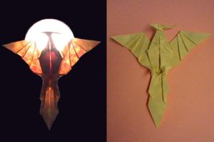Origami Pheonix by Shpoo22