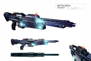 Battle rifle holo iron sights by DESTRAUDO