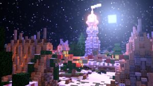 Christmas Scene Test - Minecraft by KingFromHatena