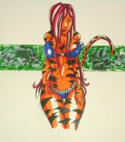 FS: Tigra Pinup 040609 by raccoon-eyes