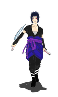 Raiken Storm Uchiha Color by IITheDarkness94II