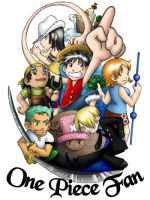 One Piece Fan Badge by ScuttlebuttInk