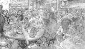 Study of I'm in mamak stall by ahgun