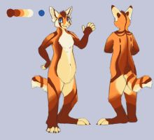 Striped Red Pabbit Character Auction by bkatt500