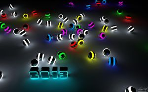 2013 Glowing Balls By SSxArt by SSxArt