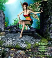 Forest Fairy by SK-DIGIART