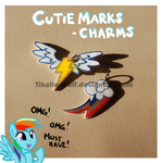 Cutie mark charms by Tikalie-Wolf