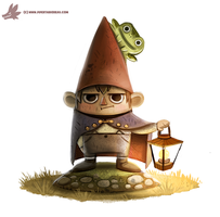 Daily Paint #1031. Gnome Wirt by Cryptid-Creations