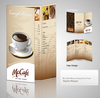 McCafe Menu design showcase by mangion