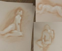 Ellen Barkin figure studies by theartdepartment