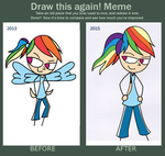 Before and After- Dashie Ponytail by LilyQueenOfPurple
