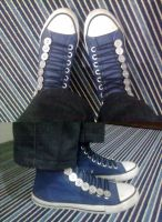 Button-up Converse by honeyness