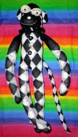 Harlequin Monkey by wiccanwitchiepoo