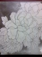 Black and white flower finished by Fuyutaihen