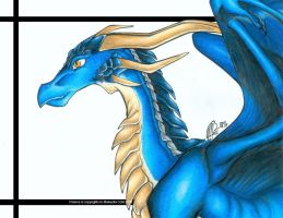 Firence teh blue Dragon by ManueC