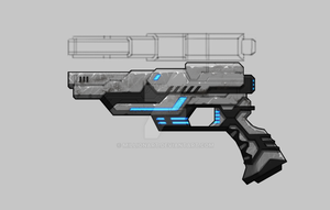 Bounty Hunter: Black Dawn - Pistol by millionart