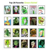 My Top 20 Favorite Green-Haired Characters by SithVampireMaster27