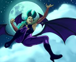 Morrigan Full Moon by jokoso