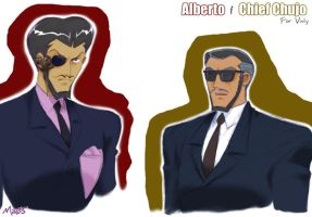 Alberto and Chief Chujo by maiyeng