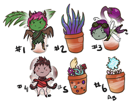 OPEN // Plantables- MYSTERY ADOPTS by AlbinoBadger