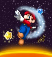 SUPER MARIO GALAXY by HannahWhoDraws