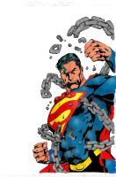 Superman by Ivan Reis by hiasi