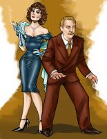 Ms. Scarlet and Col. Mustard by MrOrozco
