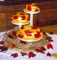 Autumn Fall Wedding Cake 2002 by ALICE-on-ACID