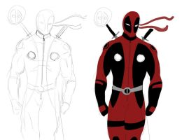 Deadpool concept sketch by darknight7