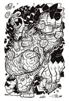 THING vs GORILLA lines by Andrew-Ross-MacLean