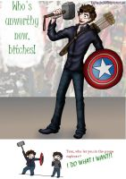 Avengers- Raiding the Props Cupboard . . . by HugMonster341