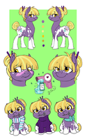 Miss lily Reference Sheet by DafinasPride