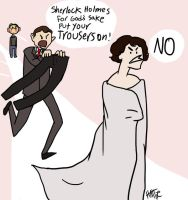 SHERLOCK Y U NO WEAR TROUSERS by Mad-Hattie