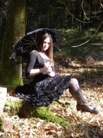 Gothic Lolita shooting by snow-white-Alice
