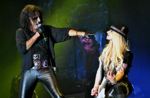 Alice Cooper and Orianthi Panagaris by SweetSummerSoul