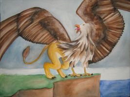 Watercolour griffin by Nicolargh