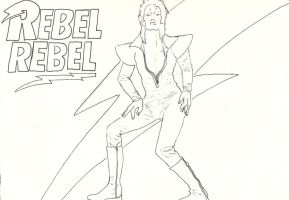 Rebel Rebel Line Art by silvermoon822