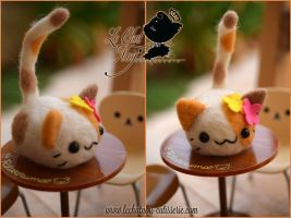Wool Candy Sweet Kitty by LeChatNoirHandMade