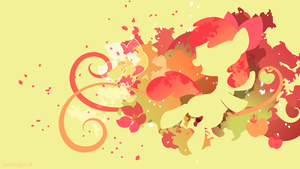 Applebloom Silhouette Wall by SpaceKitty
