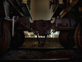 Coupling Rail Cars by S-H-Photography