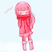 Princess Bubblegum in winter by michelle-lennon9