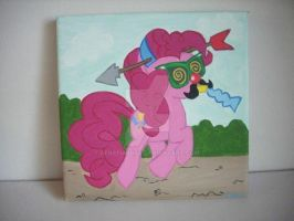 My little Pony FIM G4 Pinkie Pie painting by BerryMouse