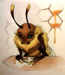 Bee Secretary by Amphibizzy