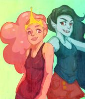 BubbleGum and Marceline by QueNoManche