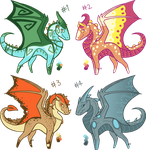 Mini Dragon Adopts- CLOSED- Thanks for Buying!! by kmp0511