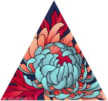 Triangle and Chrysanthemum by mad-smile
