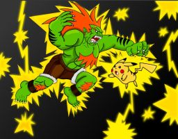 DEATH BATTLE!: Blanka vs Pikachu by Retro-Eternity