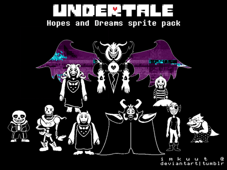 Undertale 'Hopes and Dreams' 2x res sprite pack by imkuut